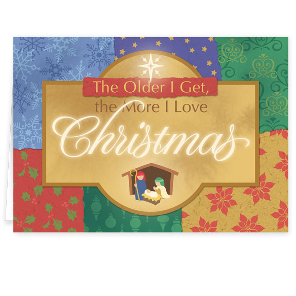 The More I Love Christmas Religious Christmas Card Set of 20 - View 2