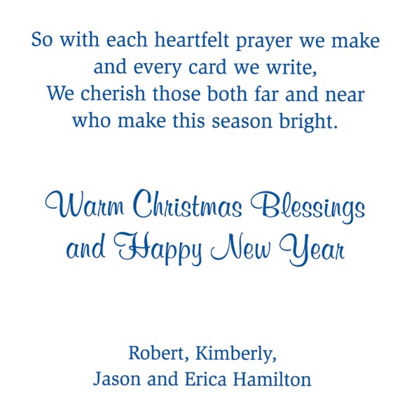 Remembering You Religious Christmas Card Set of 20 - View 4