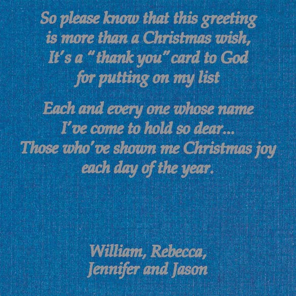 List Of Blessings Personalized Christmas Cards - Set Of 20 - View 4