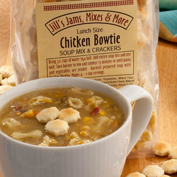 Luncheon Chicken Bowtie Soup Mix & Crackers - View 2