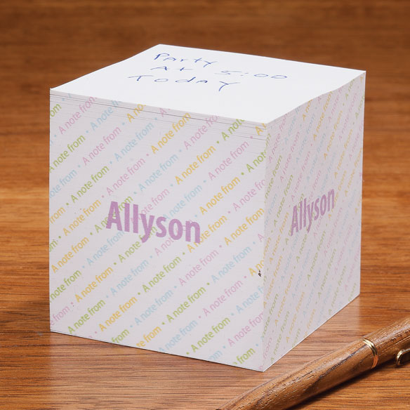 Personalized Sticky Note Cube - View 2