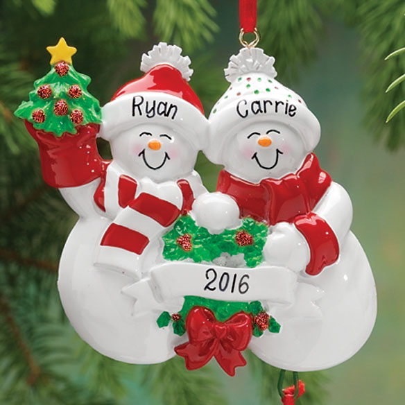 Personalized Snow Family Ornament - View 2