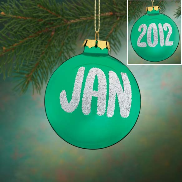 Personalized Name And Date Glitter Ornament - View 3