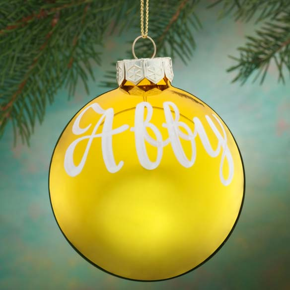 Personalized Name Or Date Painted Ornament - View 2