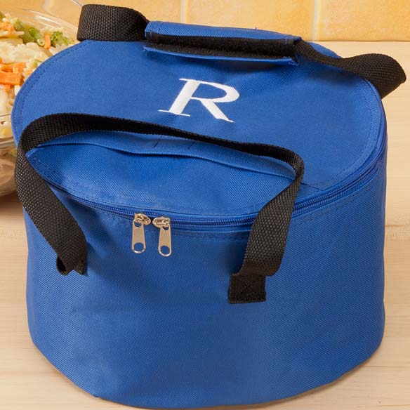 Personalized Round Casserole Carrier - View 2