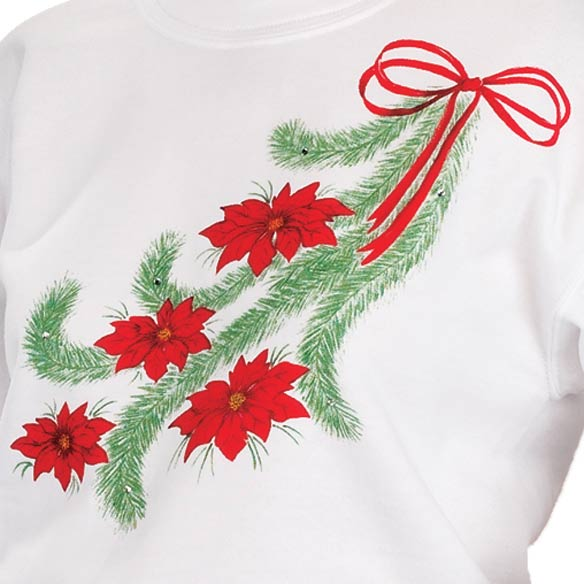 Poinsettia Sweatshirt - View 2