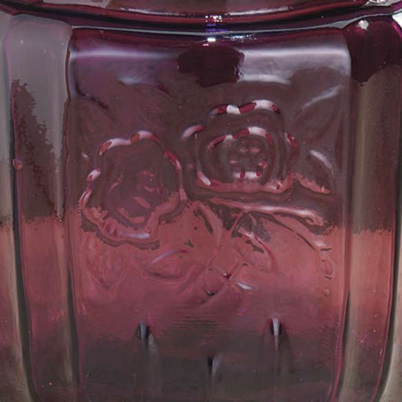 Amethyst Depression Style Glass Biscuit Jar - View 2