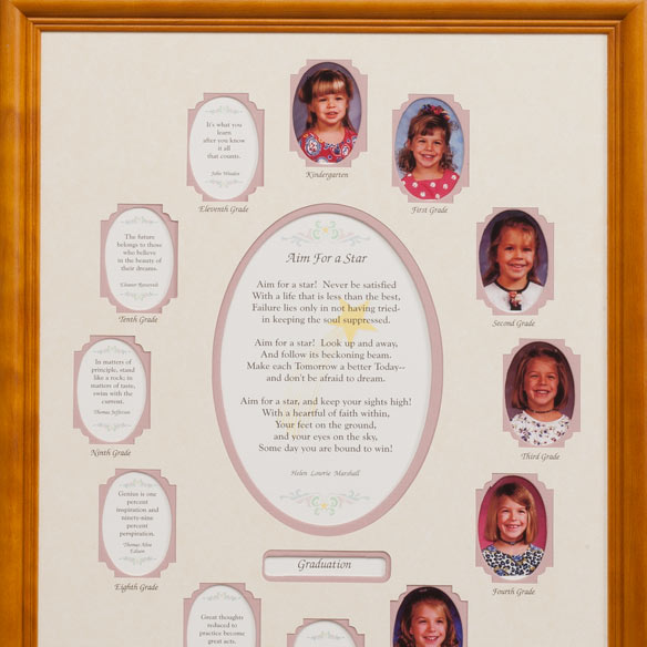 School Years Collage Frame - Pink - View 2