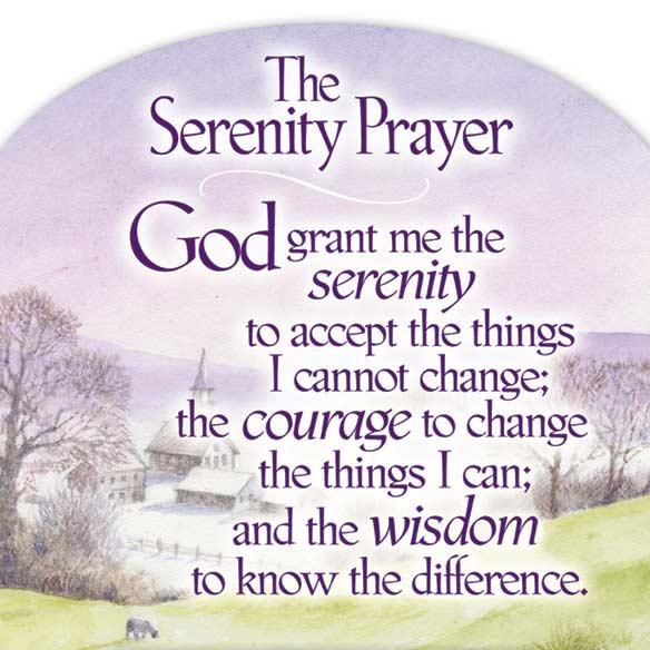 Mini Serenity Prayer Magnet Calendar - View 2