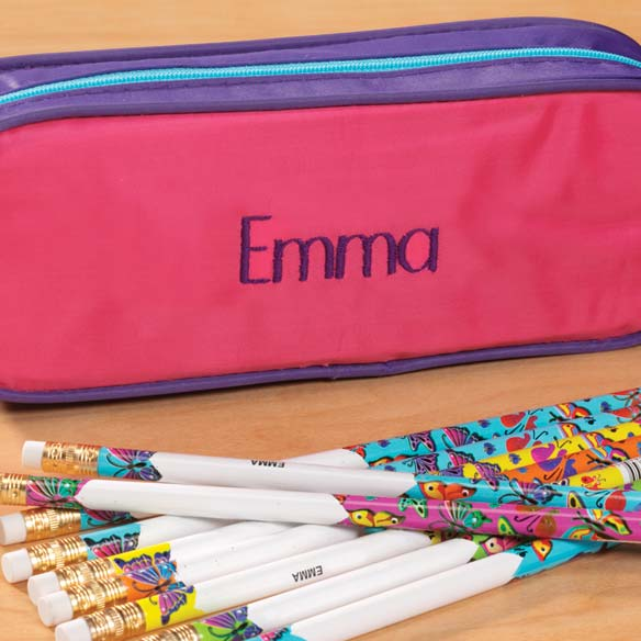 Personalized Butterflies Pencil Case - View 3