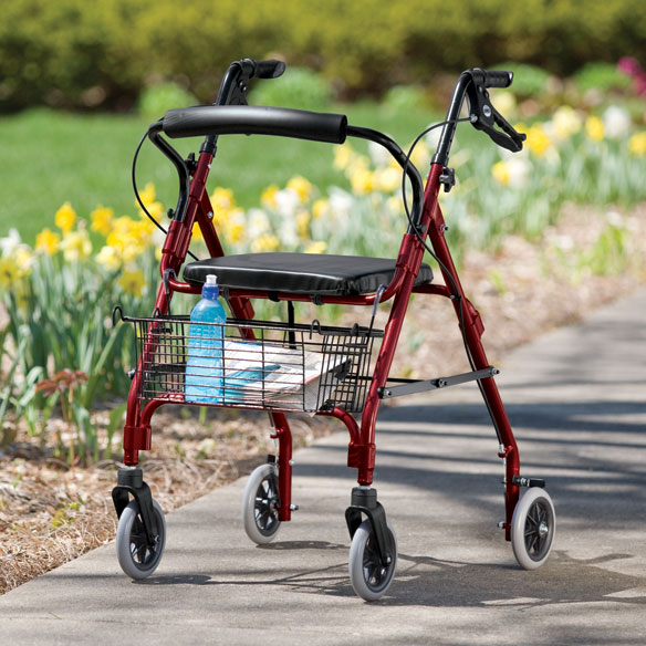 Lumex Walkabout Lite 4 Wheel Rollator - View 3