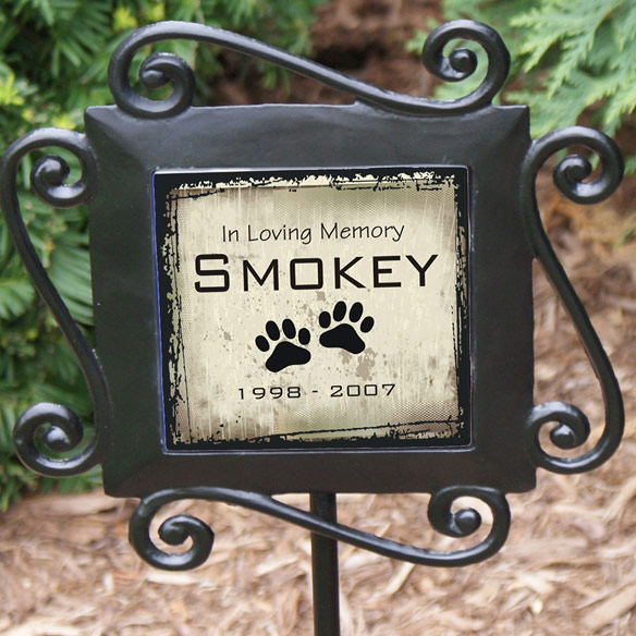 Personalized Pet Memorial Garden Stake - View 2
