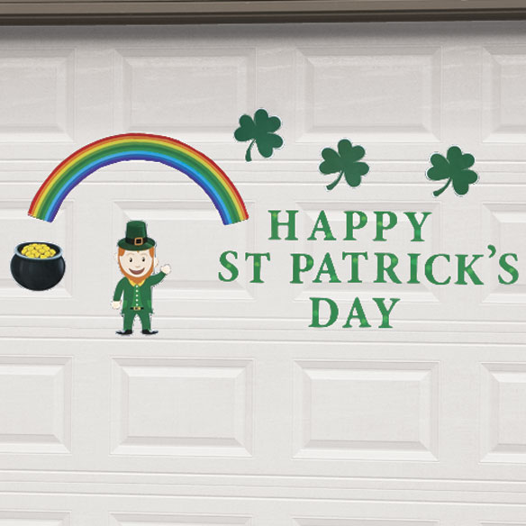 St Patrick's Day Garage Door Magnet Set - View 2