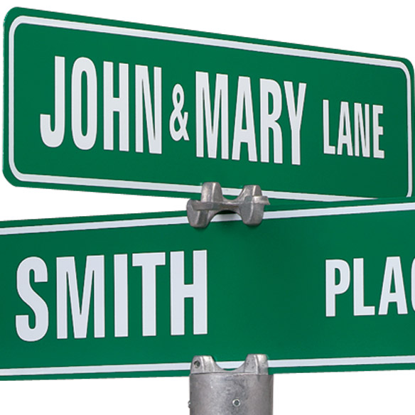 Personalized One Sided Street Sign - View 2