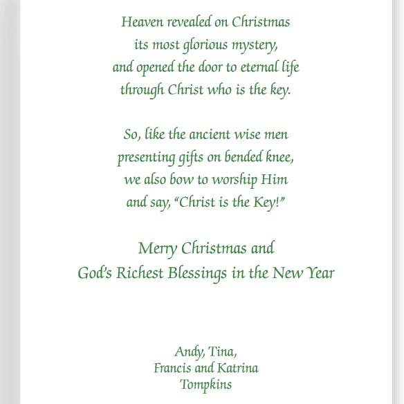 The Key to Christmas Card Set of 20 - View 3
