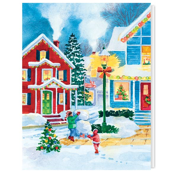 American Snowman Christmas Card Set of 20 - View 2