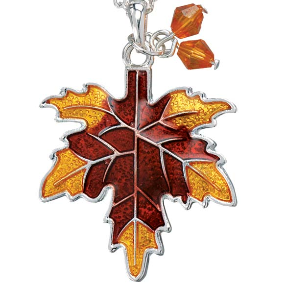 Autumn Leaf Necklace - View 2