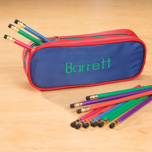 Personalized Slim Pencil Case Set - View 2