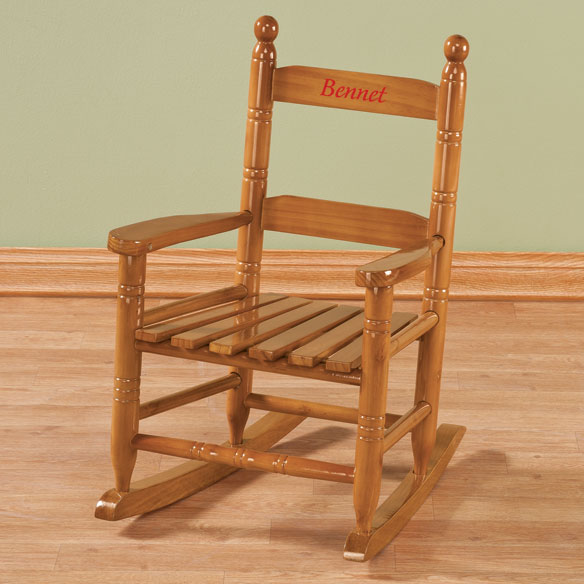 Personalized Child's Natural Rocker - View 3