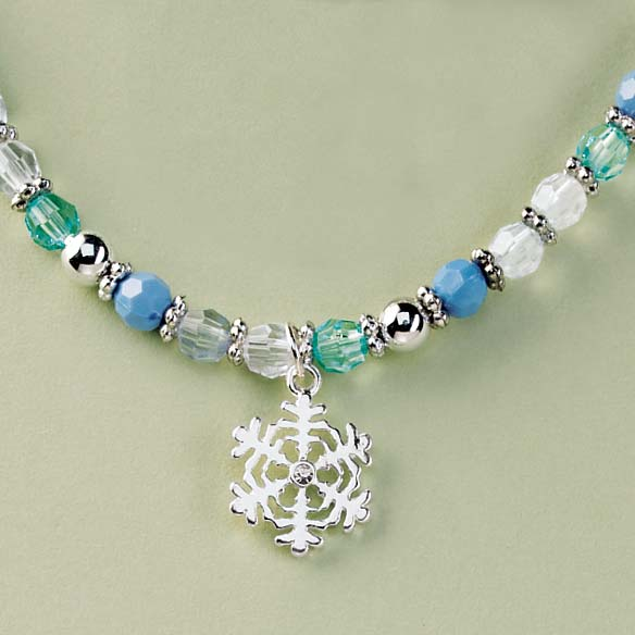 Snowflake Charm Necklace - View 2