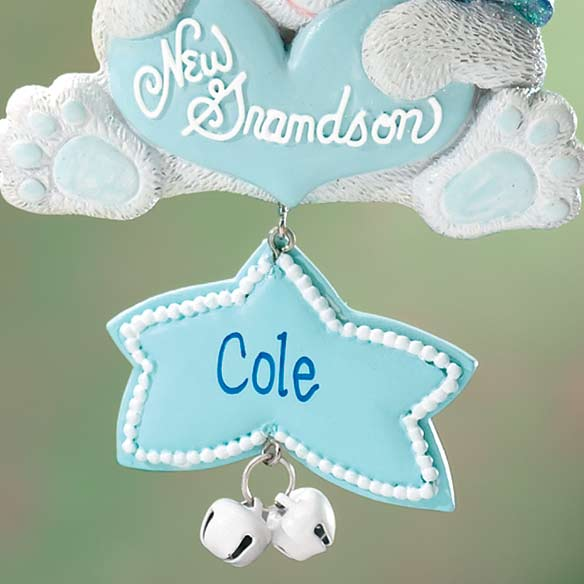 Personalized New Grandson Ornament - View 3
