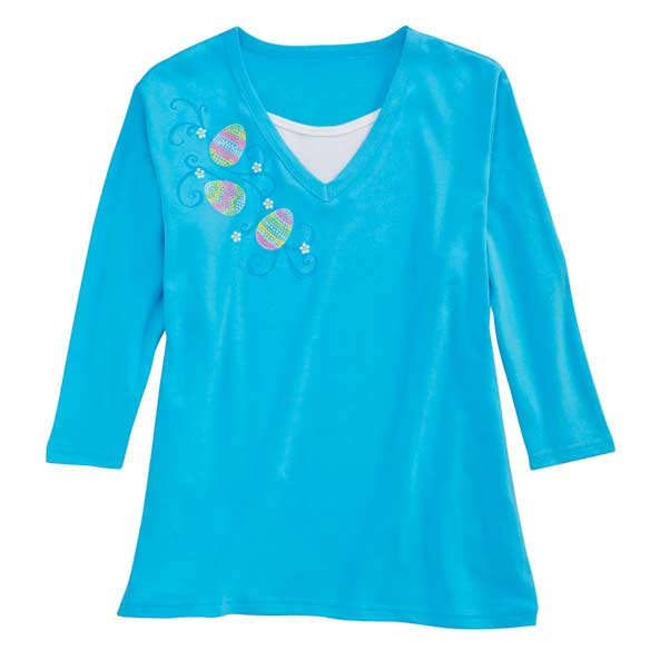 Sweeping Eggs 3/4 Sleeve Shirt - View 2