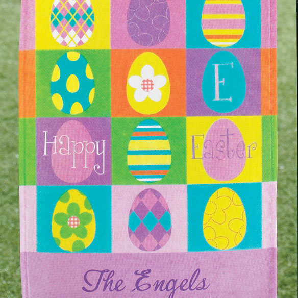 Personalized Easter Eggs Garden Flag - View 2