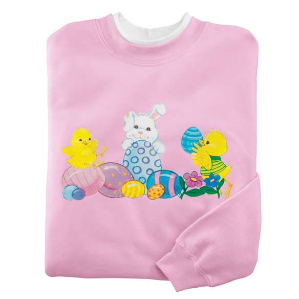 Bunny And Chicks Sweatshirt S-XL - View 2