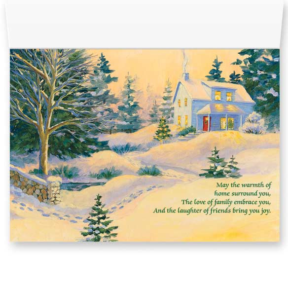 Snowy Footbridge Non-Personalized Card Set of 20 - View 3