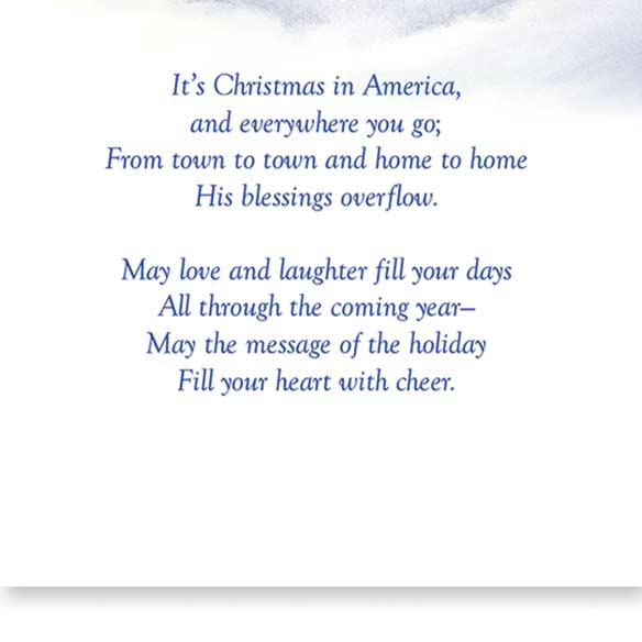 God Bless America Non-Personalized Card Set of 20 - View 3