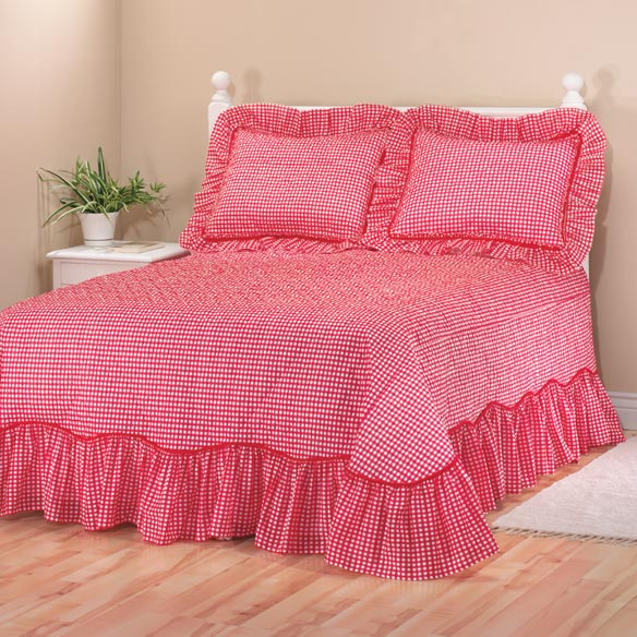 Gingham Bedspread - View 5