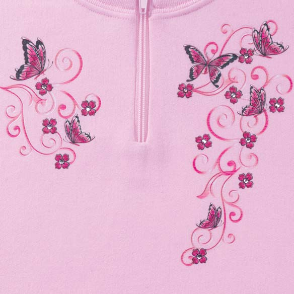 Sweet Butterflies Short Sleeve Sweatshirt - View 2