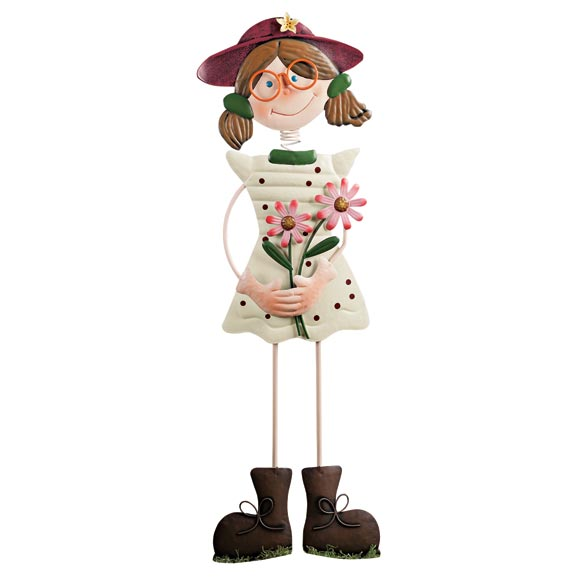 Girl Garden Stake by Maple Lane Creations - View 2