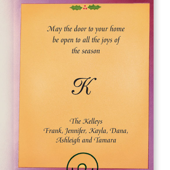 Door Knocker Monogrammed Card Set - View 3