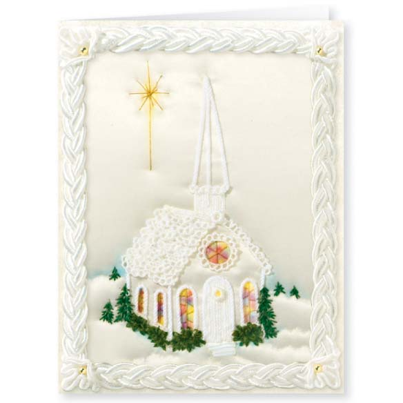 Satin Chapel Christmas Card Set of 20 - View 2
