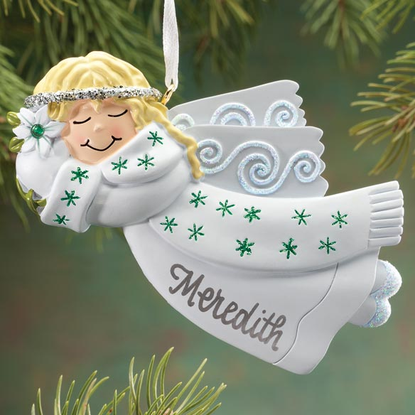 Personalized Birthstone Angel Ornament - View 3