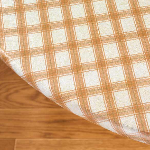 plaid elasticized vinyl table cover kitchen miles kimball