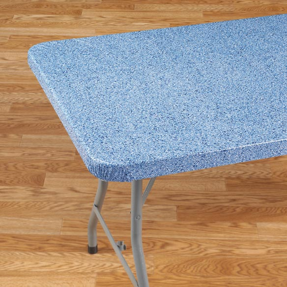 Granite Elasticized Banquet Table Cover - View 5