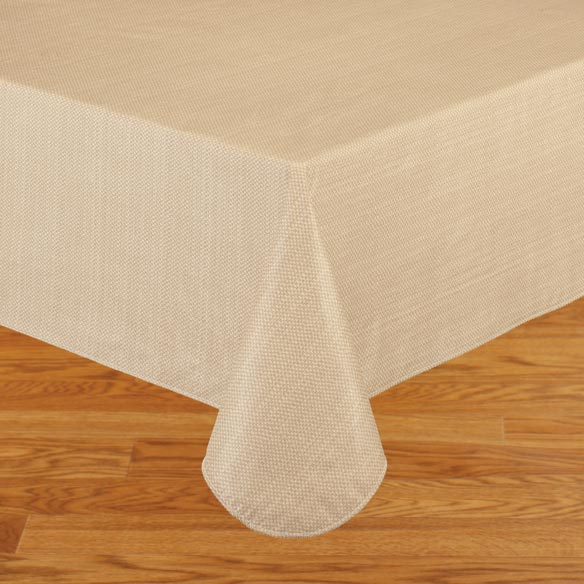 Classic Weave Vinyl Table Cover - View 2