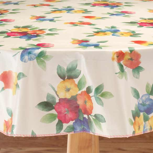 Waterflowers Vinyl Table Cover - View 2