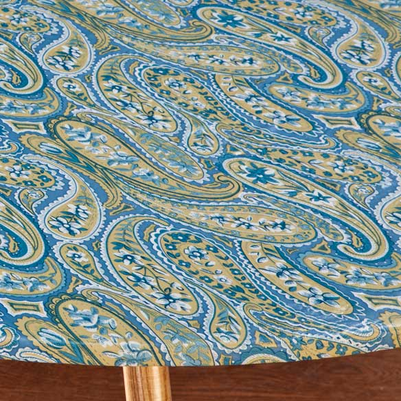 Paisley Elasticized Table Cover - View 2