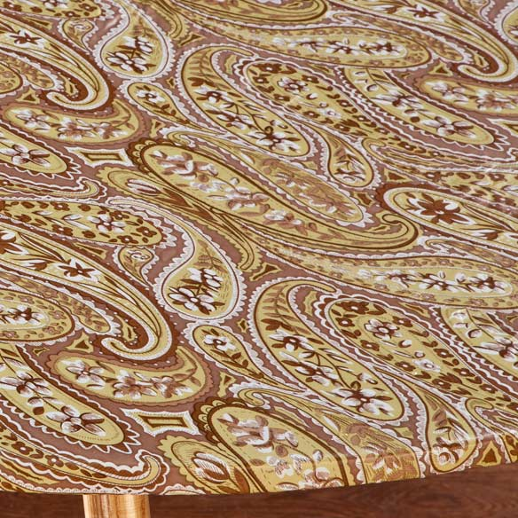 Paisley Elasticized Table Cover - View 3