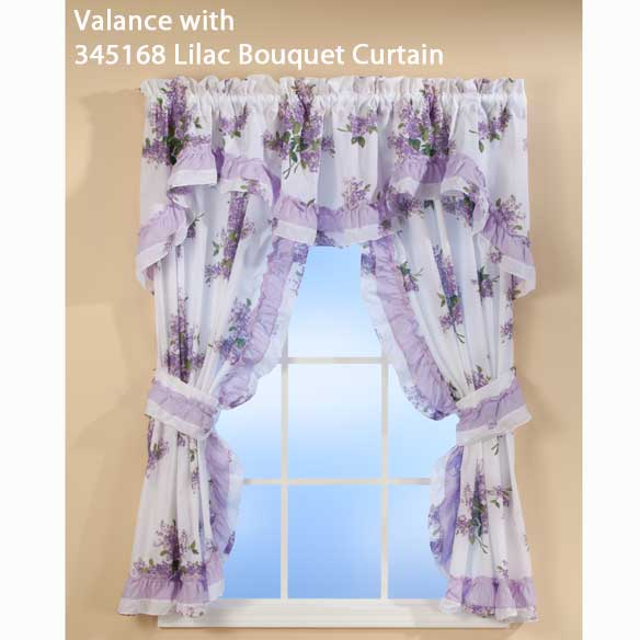Lilac Ruffle Valance - View 2
