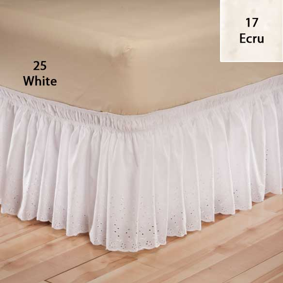 Eyelet Bed Ruffle - View 2