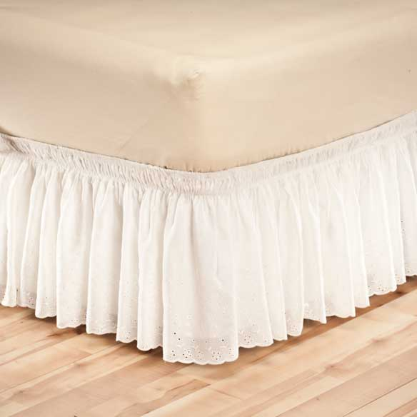 Eyelet Bed Ruffle - View 3