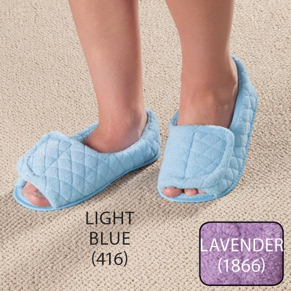 Quilted Adjustable Slippers - View 2