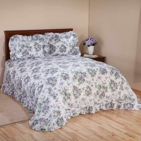 Ribbons & Roses Floral Plisse Bedding - View 4