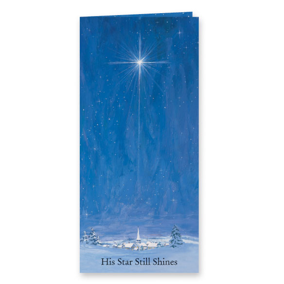 The Star Still Shines Christian Christmas Card Set of 20 - View 2