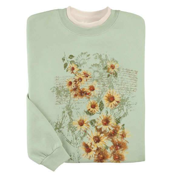 Sunflowers Sweatshirt - View 2