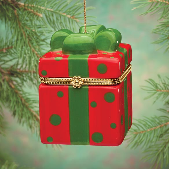 Merry Dots Trinket Box Ornament - View 2